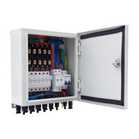 6 String Solar PV Combiner Box W Circuit Breakers Surge Lightning Protection
