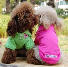 2016 Newest Pet Dog Clothes Summer clothes eight color Dog Vest Wholesale for pet dog leash tie bed