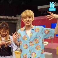 Kpop Home BTS Bangtan Boys Group SUGA The Same Blue Doughnut Summer Couple Short Sleeve Tshirt