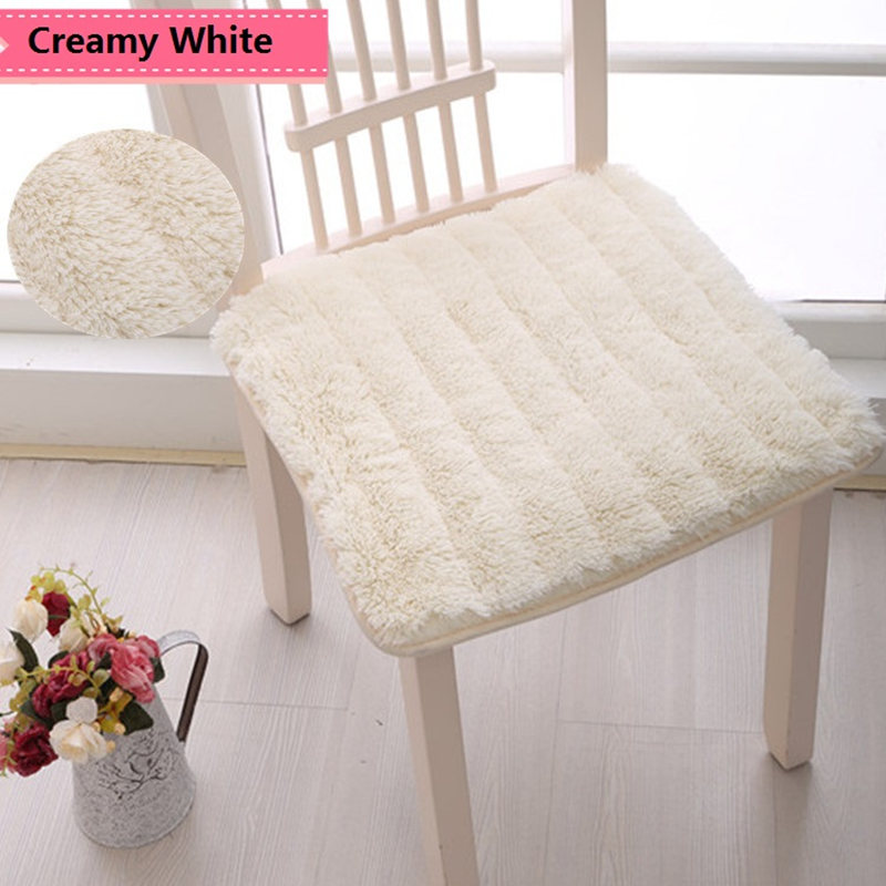 Anti-slip Seat Pad Fluffy Mat Home Decor Pillow Pad Chair Seat Cushion Dining Room For Home Square Mat High Quality Seat Cushion