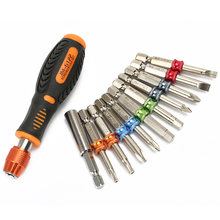 Набор бит отверток 22 в 1 магнитная ручка шестигранный цветной