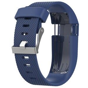 Image 3 - Pour Fitbit Charge HR remplacement bracelet de montre bracelet de montre en Silicone pour Fitbit Charge HR activité Tracker boucle en métal bracelet de poignet