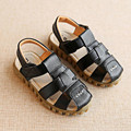 Sandals child 2017 summer new children's leather sandals boys cow tendons soft bottom beach sandals girls braided baby shoes