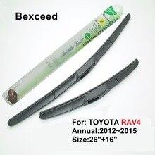 """1 комплект 26 """"+ 16"""" высокое качество bexceed лобовое стекло автомобиля гибридных стеклоочистителя для Toyota RAV4 20 1 2 ~ 2015"""