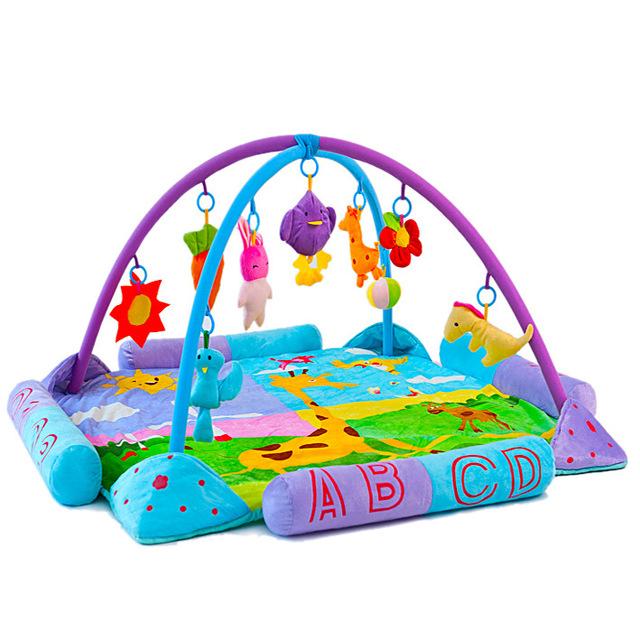 Hot Brinquedo Do Bebê Esteira Do Jogo Do Bebê Jogo Tapete Infantil Educacional subida Rastejando Mat Atividade Ginásio Musical Cobertor Crianças Tapete 0-3 anos
