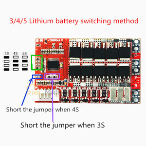 Image 5 - 5S 50A BMS Board/ 55A 3.7V Lithium battery protection board/3.2V iron phosphate/LiFePO4 battery BMS board with Balance