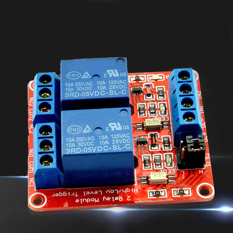 Hot Sale 2Ways 5V 9V 12V 24V Relay Swich Module Relay Expansion Board Development Board Support high and low level trigger