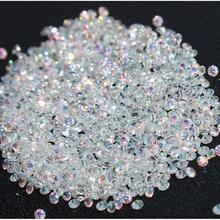 Новинка 1400 шт микро Алмазные DIY Стразы для ногтей Кристальные плоские с обратной стороны не горячей фиксации наклейки со стразами нужен клей для нейл-арта украшения