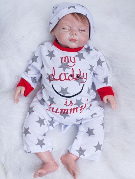 20 Inch Zachte Lichaam Siliconen Reborn Babypoppen Speelgoed Levensechte 50 Cm Pasgeboren Slapen Jongens Baby 's Met Magneet Mond Play Huis Speelgoed