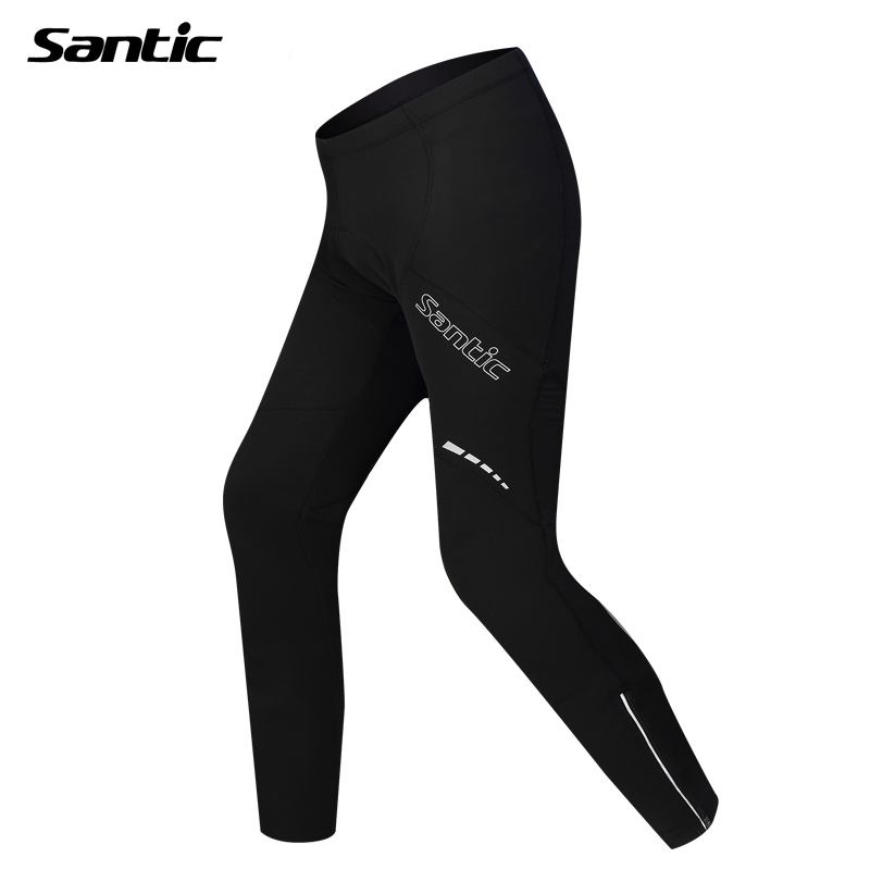 SANTIC Outdoor Sports Cycling Winter Fleece Men's Pants Riding Bike Pants-Compass Cycling Tights Winter Wind Thermal Pants santic mens winter bicycle bike long pants windproof fleece thermal tights james outdoor sports pants cycling clothing