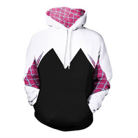 Popular Hoodie Spider Man Spider Gwen Hoodies Sweatshirts Cosplay Halloween Outfit Unisex Coat Outer Wear