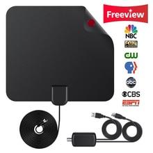 Updated 2018 Version TV Antenna Indoor Digital HDTV Antenna Amplified 80 Mile Range 4K HD VHF