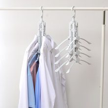 Multi-functional Plastic Foldable Clothes 8 In 1 Space-saving Wardrobe Hanger