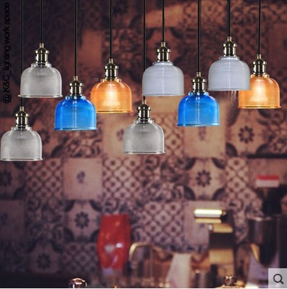 Retro Edison Loft  Lamp Vintage Industrial Pendant Light Fixtures with Glass Lampshade,Lampara Colgante De Techo loft vintage edison glass light ceiling lamp cafe dining bar club aisle t300