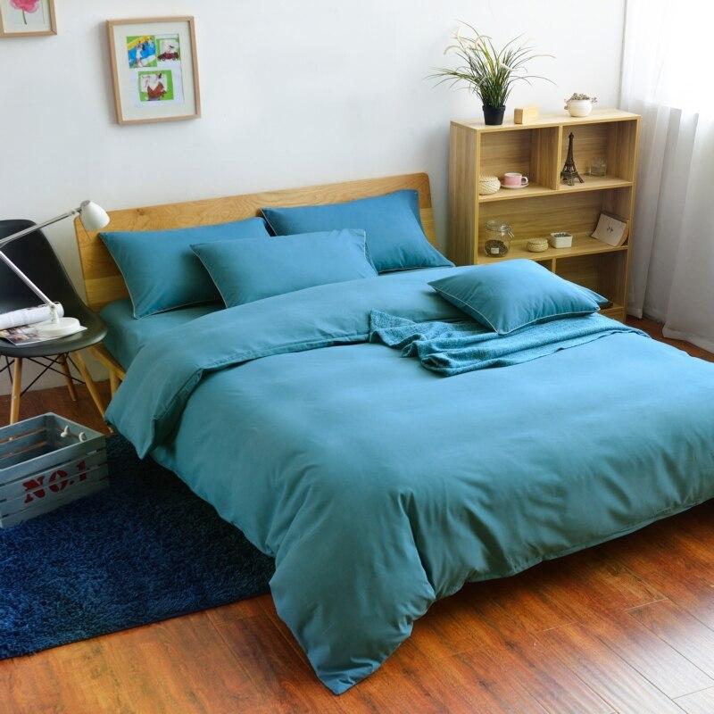 Sapphire Bedding Duvet cover set 3/4pcs Duvet set Double single Twin/Queen/King size Mixed colors Hotels,Plain Solid colour