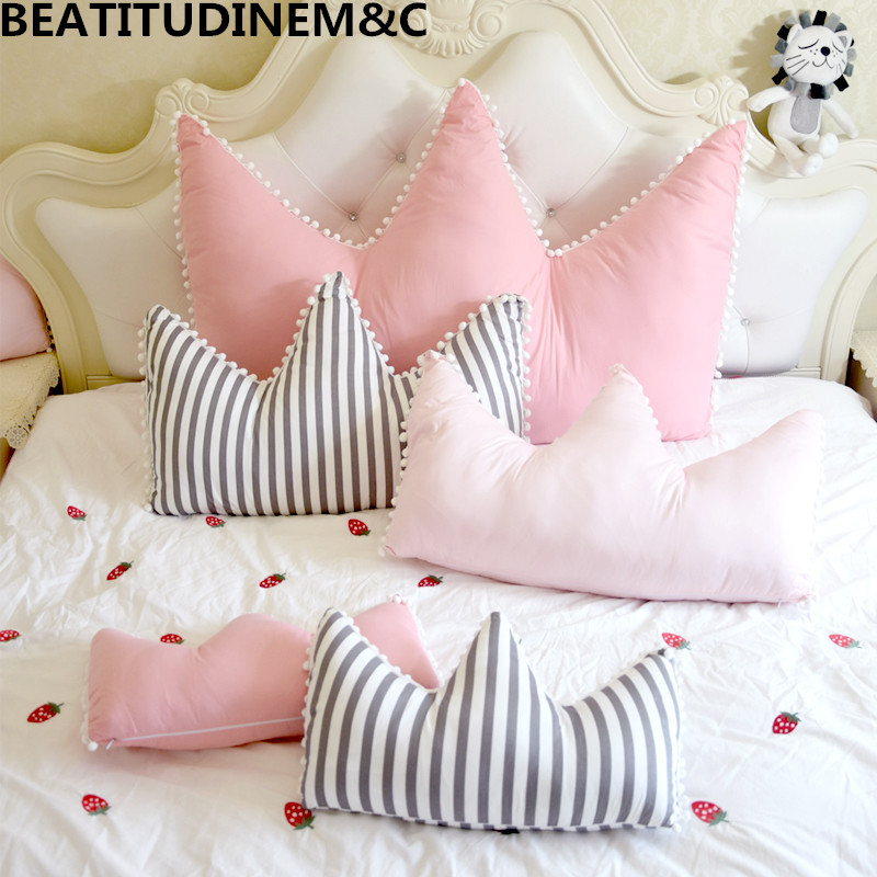 New Cotton Crown Sofa Pillow Cushion Plush Toy Childrens Toys Gift Home Bay Window Decoration