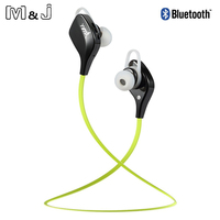 M&J YY7 Wireless Bluetooth 4.1 Stereo Earphone Sport Running Earphones for iPhone Samsung Xiaomi WIth Selfie Function PK QY7