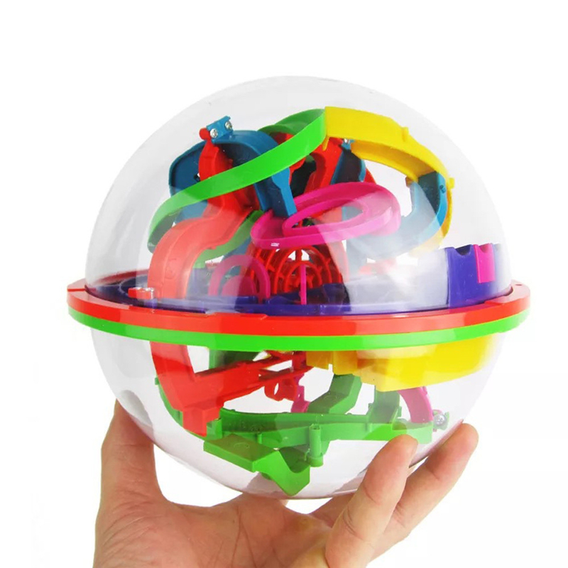 Hot Sale 100 Barriers 3D Labyrinth Magic Intellect Ball Balance Maze Perplexus Puzzle Toy Great Educational Toys For Children