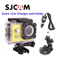 Free shipping!!Original SJCAM SJ4000 Diving 30M Waterproof extreme Helmet Sport Action Camera +Extra Car Charger and Holder