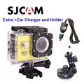 Frete grátis!! Original SJCAM SJ4000 Mergulho 30 M Waterproof extrema Helmet Esporte Action Camera + Carregador de Carro Extra e Titular