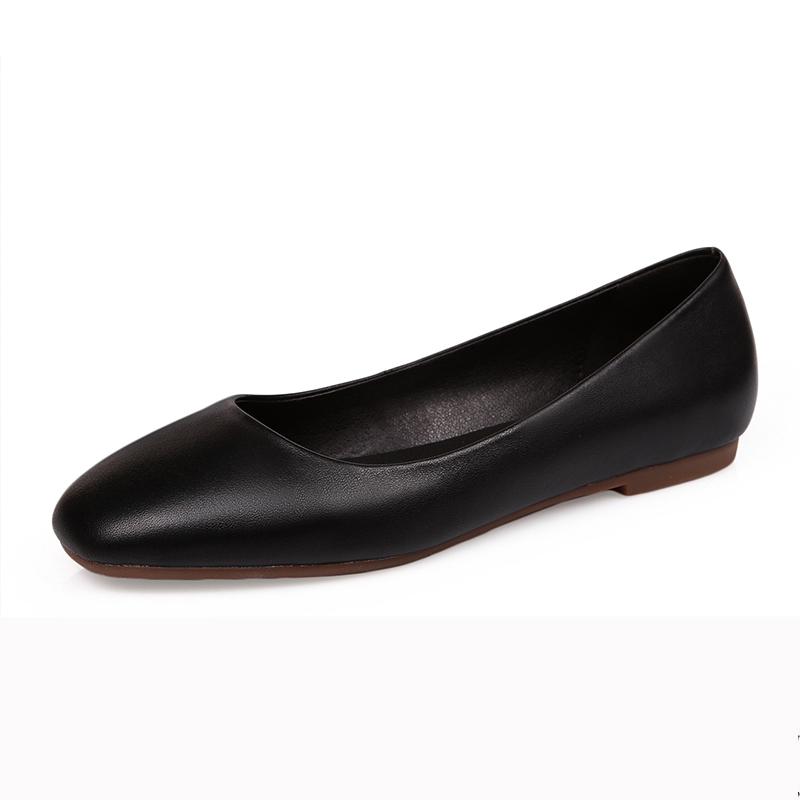 ФОТО 2017 Newest Women Genuine Leather Shoes Round Toe Flats Handmade High Quality Shoes Casual Solid Slip-on Flats AE221