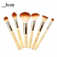 Jessup pincéis 6 pcs Beleza De Bambu Pincéis de Maquiagem Profissional Conjunto de Pincel de Maquiagem Ferramentas kit Buffer De Pintura Cheek Destaque T144
