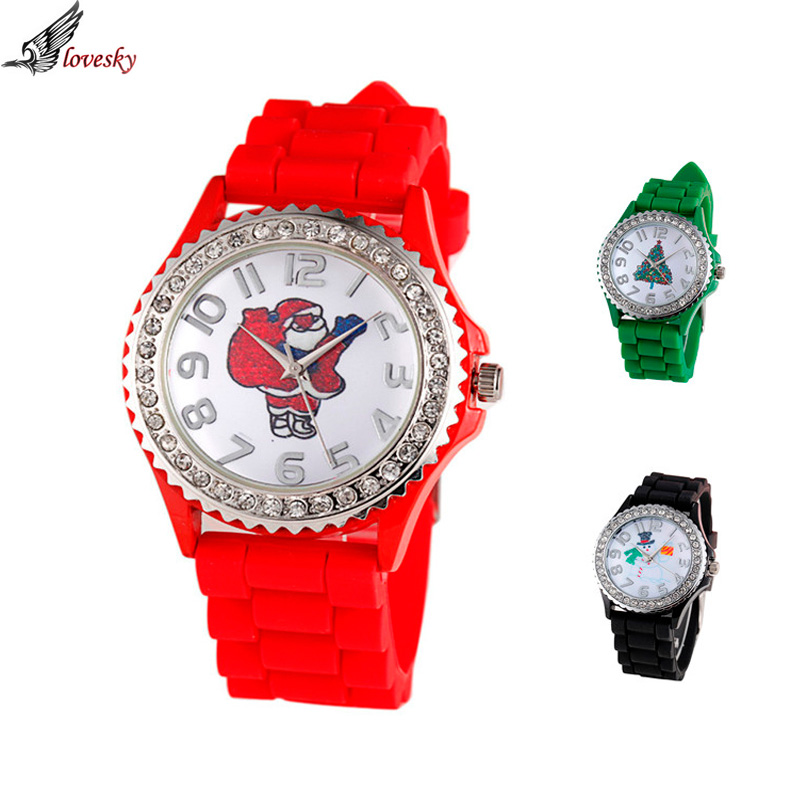 Children's watches Christmas Silica Gel Quartz Analog Watch Baby as Christmas Gift