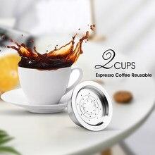Cápsula de café reutilizable para Lavazza a modo mio, cesta de filtro refiltrable de Metal de acero inoxidable