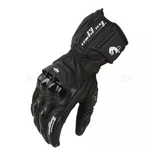 Image 3 - Gants de moto en cuir véritable, pour course de course, nouveau modèle AFS18, offres spéciales, livraison gratuite