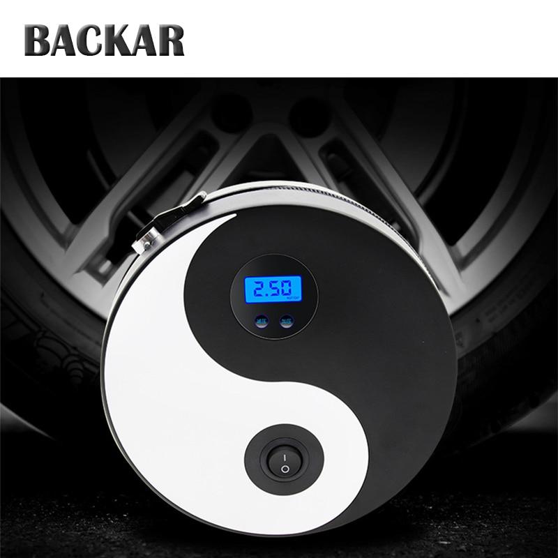 BACKAR Auto Car Tai Chi Car Tire Pump Round Air Pump For Citroen c4 Suzuki swift SX4 Volkswagen VW Polo Golf B6 B5 Accessories