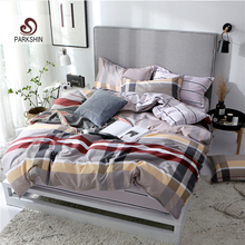 ParkShin Geometry Bedding Set Elastic Band Bed Fitted Sheet Corners Duvet Cover Queen Linen Bedspread Nordic