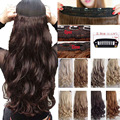 "Long Clip in Hair Extension half full head 100% Synthetic as natural hair Extentions 17"" Curly UPS USA Local Fast Free Ship"