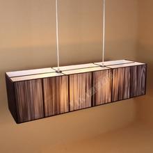 Современный подвесной светильник Ресторан лампа LED шелковый столовой, простой, прямоугольный светильник подвесной светильник ZZP