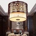 40X40 cm Retro Suspensão Chinês Levou pingente luzes Lustre Projeto Home Lighting 110 V-220 V E27 luzes para sala de jantar de madeira