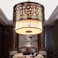 40X40cm Retro Suspension Chinese Led pendant lights Lustre Design Home Lighting 110V-220V E27 Wooden lights for dining room