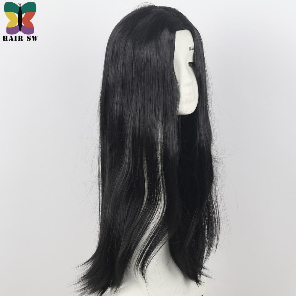 HAIR SW Långt Hår Värmebeständigt Rett Cosplay Wig Dräkt NO - Syntetiskt hår - Foto 5