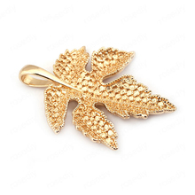 (34055)4PCS 44*34MM 24K Gold Color Brass Maple Tree Leaf Leave Charms Pendants High Quality Diy Jewelry Findings Accessories