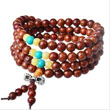 2015 New Indonesia bloodshot gold Pu Tizi beads font b bracelet b font 108 High Quality