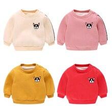 Children plus cashmere sweater new winter men and pullovers baby thickened children's wear cartoon warm jacket 9M-24M-3T-7T