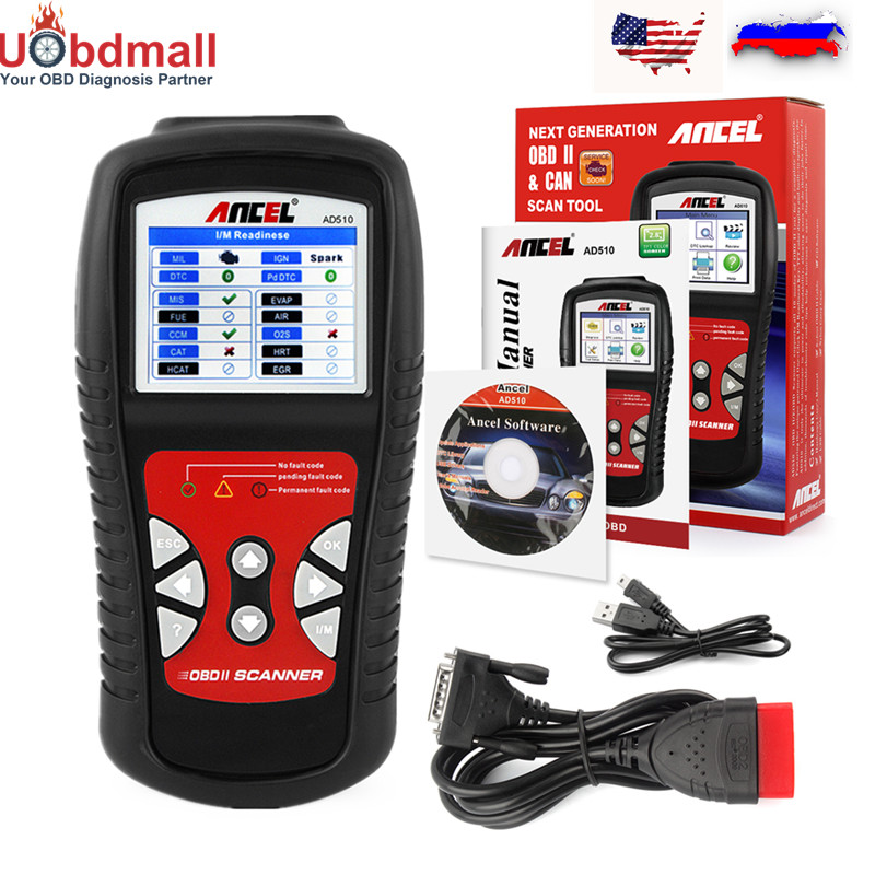 OBD2 Car Diagnostic-Tool ANCEL AD510 OBD 2 Automotive Scanner Multi-Language Trouble Code Reader OBD2 Auto Diagnostic Tools launch original x431 car diagnostic tool easydiag obd2 bluetooth adapter automotive scanner code reader for ios android mdiag