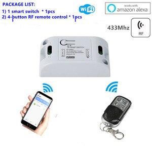 Image 5 - Wifi Anahtarı DIY Akıllı Ev Otomasyonu Modülleri Kablosuz Uzaktan Kumanda Işık Zamanlayıcı Röle Anahtarları 110 V 220 V Alexa ile Çalışır