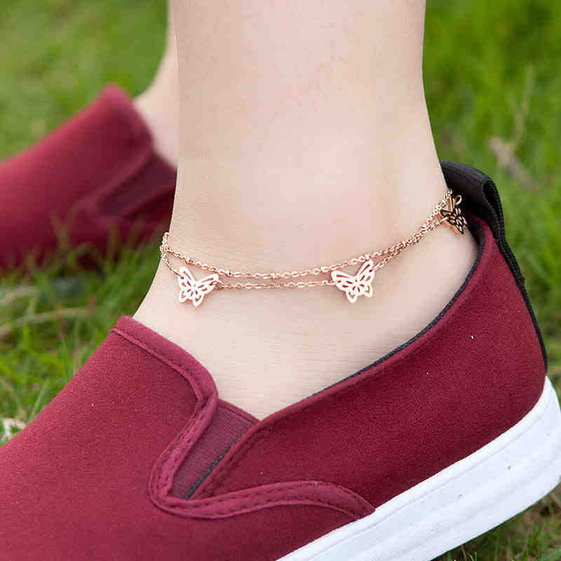 fashion sexy crucifix small fox Daisy Clover colt anklet butterfly pentagram anklet bracelet have small bell
