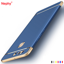 Nephy Plating Hard Case For Huawei P10 P9 P8 Lite Plus 2017 Coque Thin Colorful Three Parts Shockproof Protection Phone Cover