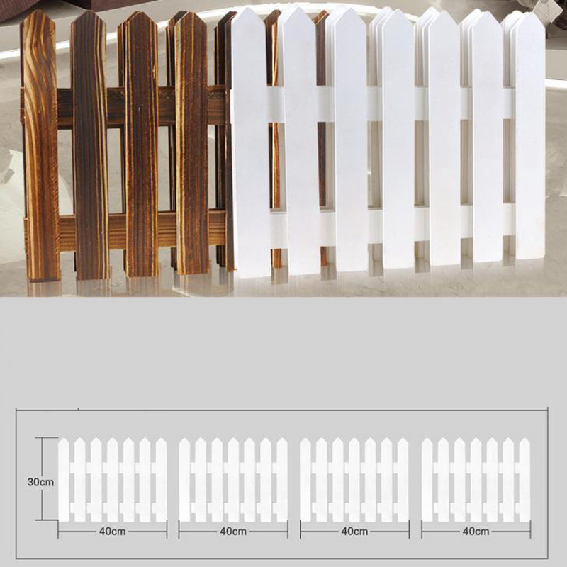 High Quality 30160cm White Wood Fences For Christmas Tree Large