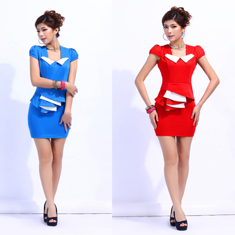 2015 transporté d\u0027urgence femmes tailleur jupes modèles féminins bureau  Slim tempérament Professional Suite hôtesse technicien de Service Sauna  1223 dans