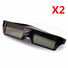 2 X Official Universal 3D Bluetooth Rechargeable Active Shutter Glasses for Sony/Panasonic/epson/Samsung 3D TV replace SSG-5100 цена в Москве и Питере