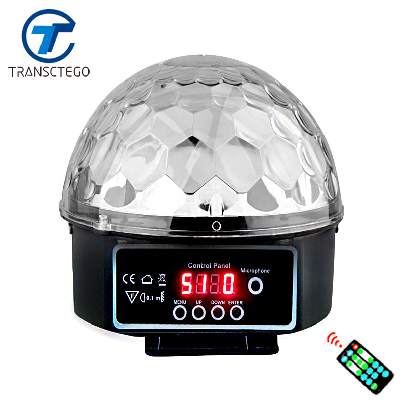 Stage Lamp Led Disco Laser Light Wedding Party DMX Lights Sound Control Christmas Projector 9 Colors