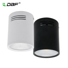 [DBF] Диммируемый светодиодный COB поверхностный монтируемый светильник 3W/5 Вт/7 Вт/10 Вт/12 Вт/15 Вт белый/черный корпус AC85-265V потолочный Точечный светильник для домашнего декора