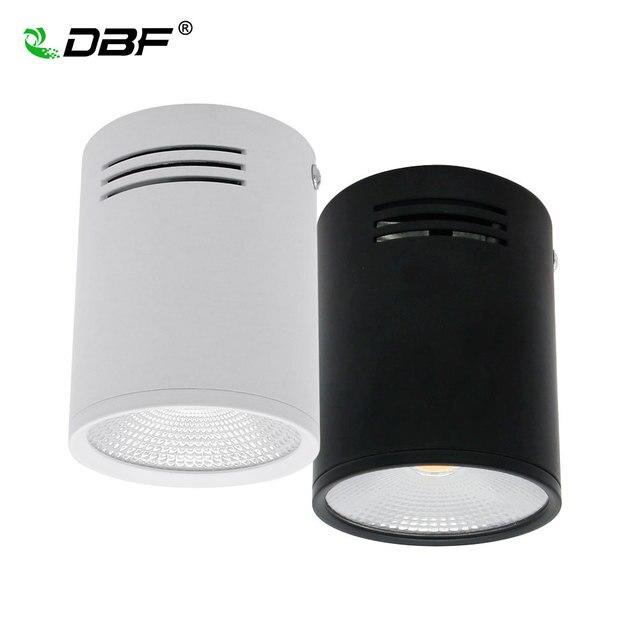 [DBF] ניתן לעמעום LED COB צמודי Downlight 3 W/5 W/7 W/10 W /12 W/15 W לבן/שחור דיור AC85-265V תקרת ספוט אור בית תפאורה