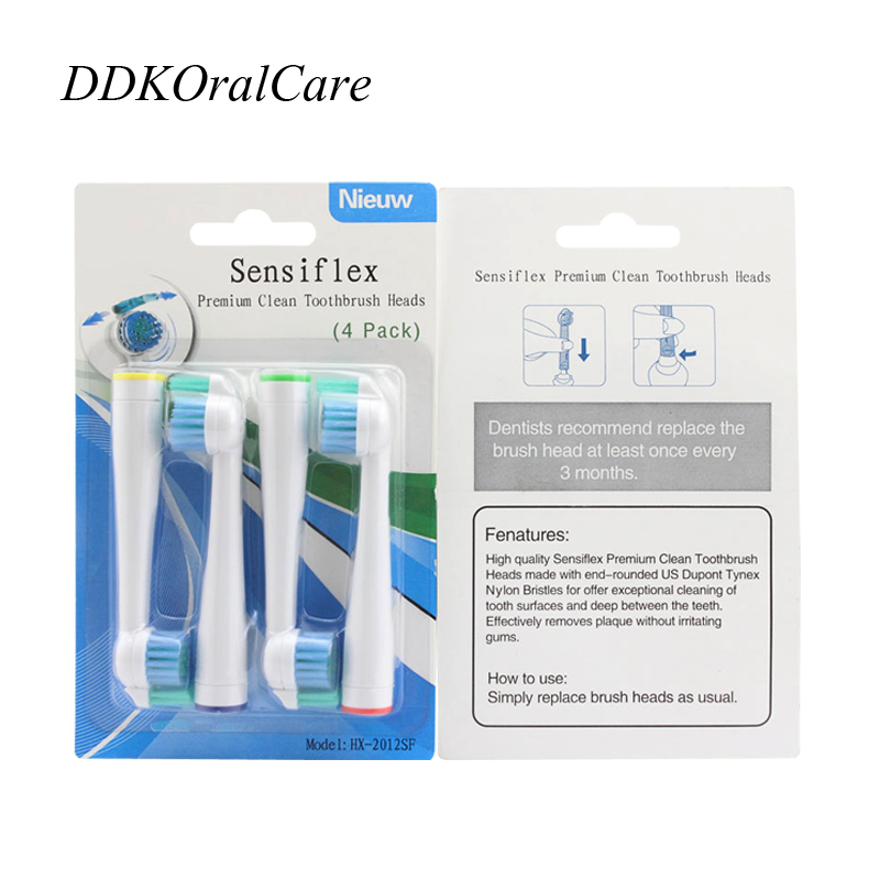 16pcs=4Packs Replace Tooth Brush Heads Soft For Philips Electric Toothbrush HX2012 Hot Selling New Quality new 1pc replacement electric toothbrush heads for philips sonicare e series hx7001 hot selling quality